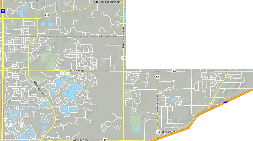 snow removal coverage map blaine mn